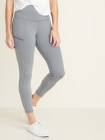 Old Navy High-Waisted Zip Pocket 7/8-Length Street Leggings For Women