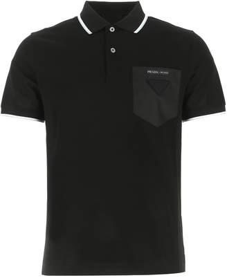 Prada Logo Patch Pocket Polo Shirt