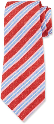 Kiton Men's Diagonal Stripe Silk Tie
