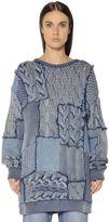 Stella McCartney Patchwork Cotton Knit & Denim Sweater