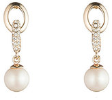 Carolee Majestic Pearl Link Drop Earrings
