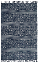 Karma Living Dabu Paisley Block Printed Handmade Cotton Rug