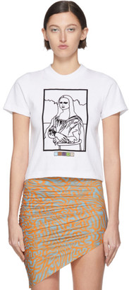 MAISIE WILEN SSENSE Exclusive White Mona Lisa T-Shirt