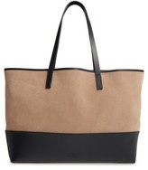 Pedro Garcia East West Suede & Leather Tote - Black