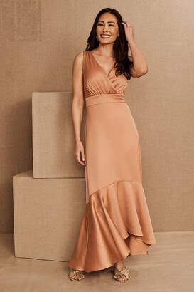 BHLDN Fairbanks Satin Dress By in Orange Size 0
