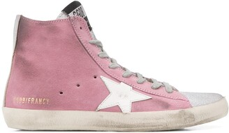 Golden Goose Francy distressed high-top trainers