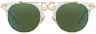 Dolce & Gabbana Eyewear Logo Plaque Wayfarers