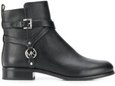 MICHAEL Michael Kors Preston buckled-harness ankle boots
