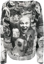 Vivienne Westwood long-sleeved face print top - women - Viscose - 40