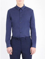 Sandro Slim-fit cotton-blend shirt
