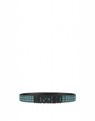 Moschino Calfskin Belt Check