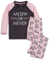 PJ Salvage Girls' Meow or Never Sleep Set - Sizes 2-4T