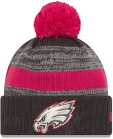 New Era Philadelphia Eagles Women's NFL Breast Cancer Awareness Sport Knit Hat - Size One