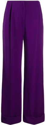 Gianfranco Ferré Pre Owned 1990s Wide-Legged Tailored Trousers