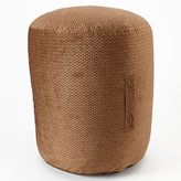 Brentwood Wicker Textured Pouf