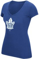 Reebok Toronto Maple Leafs Ladies' Full Color Primary V-Neck Tee, M