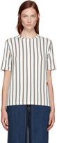 Aalto White Striped T-Shirt