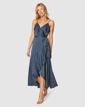 Pilgrim Women's Navy Wrap Dresses - Adana Midi Dress - Size One Size, 10 at The Iconic