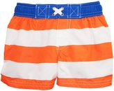 iXtreme Baby Boys' Infant Bold Stripe and Sew Swim Trunk Rashguard Short