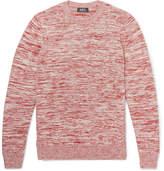 A.P.C. Soto Mélange Cotton Sweater - Red