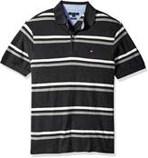 Tommy Hilfiger Men's Big Stripe Short Sleeve Polo Shirt