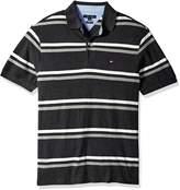 Tommy Hilfiger Men's Tall Stripe Short Sleeve Polo Shirt