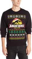 Jurassic Park Men's Jurassic World Ugly Christmas Crew Neck Sweatshirt