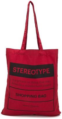 Maison Margiela Stereotype print tote bag