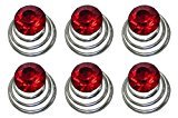 """B.ella Set of 6 Hair Twists with Solitaire Crystal 5/8"""" in diameter BU863175-solht-6red"""