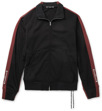 Mastermind Japan Striped Jersey Track Jacket - Men - Black