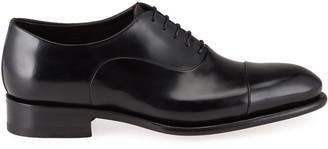 Santoni Men's Isaac Cap-Toe Leather Oxford Shoes