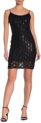 Bebe Sequin Slip Dress