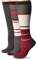 Steve Madden Women's Striped Knee High Sock 3 Pack