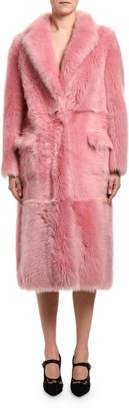 Blancha Long Sheepskin & Mink Fur Coat