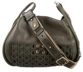 Christian Dior Cannage Leather-Accented Crossbody Bag