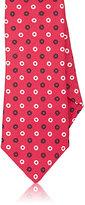 Isaia Men's Circle-Print Linen-Silk Necktie