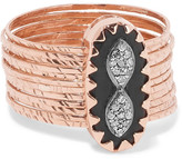 Pascale Monvoisin Bowie N°1 9-karat Rose Gold, Bakelite And Diamond Ring