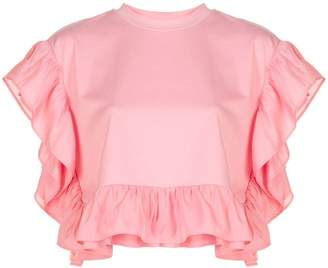 Opening Ceremony short-sleeve ruffle blouse