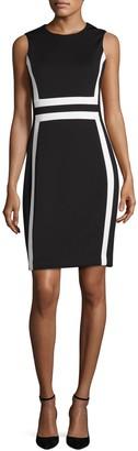 Calvin Klein Colorblock Sleeveless Sheath Dress