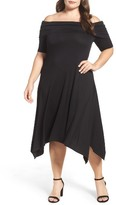 Vince Camuto Plus Size Women's Jersey Off The Shoulder Dress