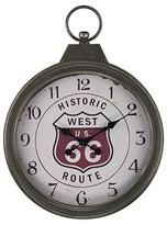 Lazy Susan 27 in. Aged Iron Wall Clock
