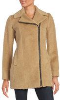 Andrew Marc Textured Asymmetrical Zip-Front Jacket