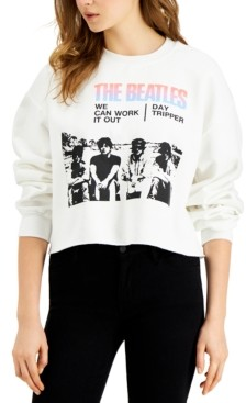 Junk Food Clothing The Beatles Cotton Cropped Sweatshirt