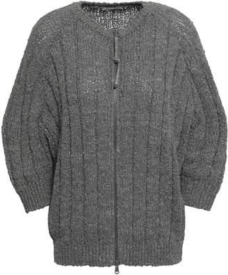 Brunello Cucinelli Embellished Ribbed-knit Cardigan