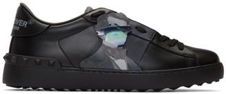Valentino Black Garavani Undercover Edition Rockstud UFO Open Sneakers
