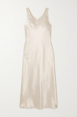 Max Mara Leisure Washed-satin Midi Dress - Cream