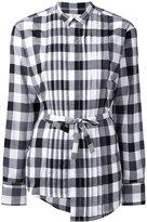 A.F.Vandevorst checked drawstring shirt