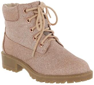 Mia Glitter Hiker Lace Up Boot