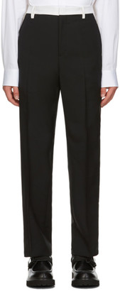 Valentino Black and Off-White Mohair Trousers