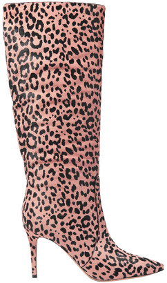 Gianvito Rossi Levy 85 Leopard-print Calf Hair Knee Boots